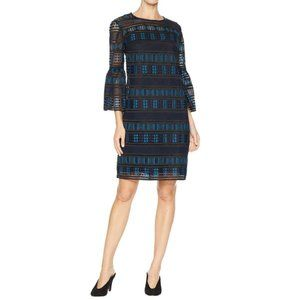 Trina Turk Cocktail Dress Blue Black Teal Chic NWT